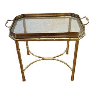 Mastercraft Brass Tray Table