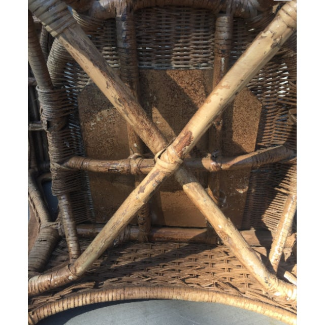 Vintage 1940s Wicker Carved Swan Chairs - A Pair - Image 6 of 9