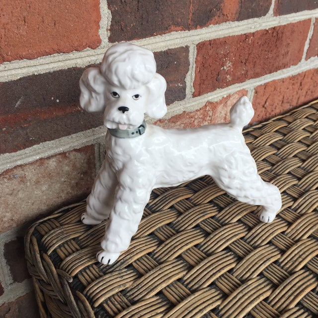 Vintage Ceramic Staffordshire Style Poodle Dog Figurine - Image 6 of 11