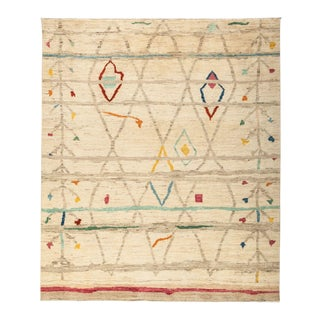 """Moroccan, Hand Knotted Area Rug - 8' 5"""" x 9' 10"""""""