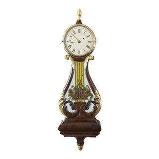 Federal Classical Lyre-Form Banjo Clock