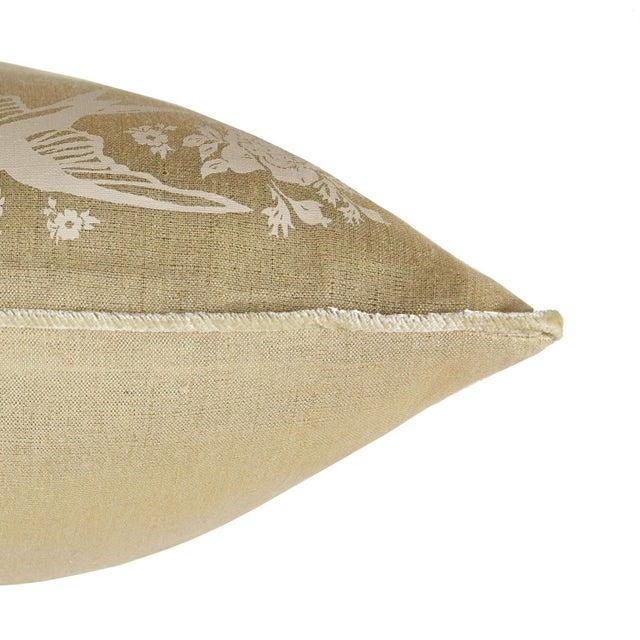 Metallic Linen Swallow Garden Pillow, Gold - Image 4 of 4