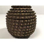 Image of Unusual Tramp Art Carved Pear-Shaped Covered Box, circa 1875