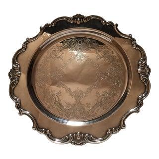 Gorham Strasbourg Silver Plated Anniversary Platter