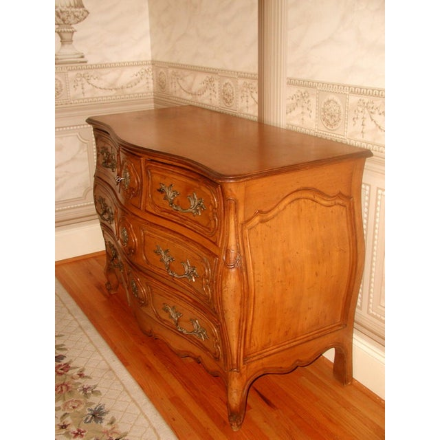 Image of French 20th C. Five Drawer Fruitwood Chest