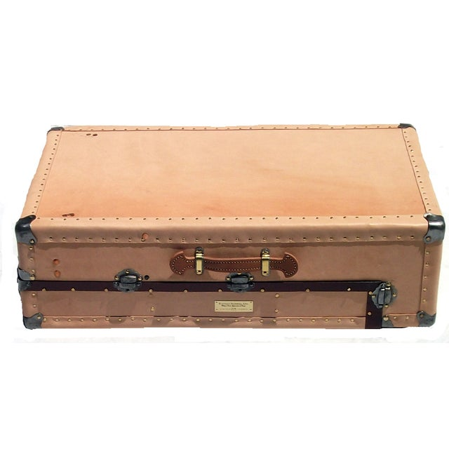 Knapp Antique Tanned Leather Tourist Trunk - Image 3 of 5