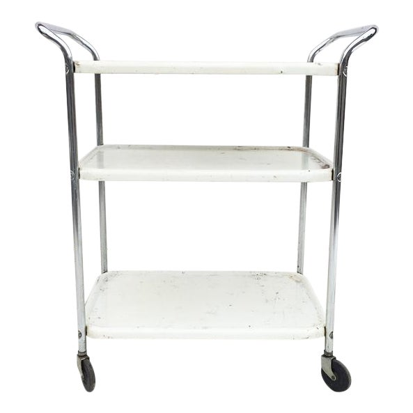 Vintage Mid Century Bar Cart - Image 1 of 5