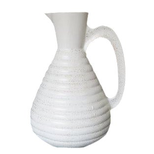 Vintage C. Miller White Gold Specked Ceramic Pitcher