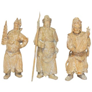 Chinese Immortals Carved Statues - Set of 3