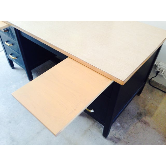 Image of Vintage Professor's Desk, Refinished in Black