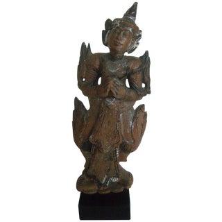 Antique Wooden Thai Temple Figure