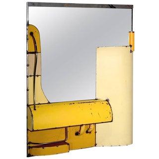 Yellow Reclaimed Steel Mirror