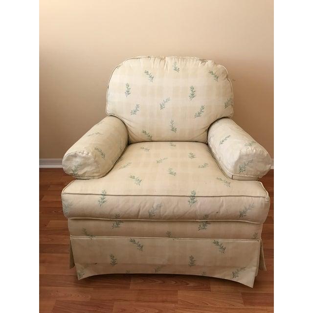 Ethan Allen Stuffed Rocking Chair  Chairish