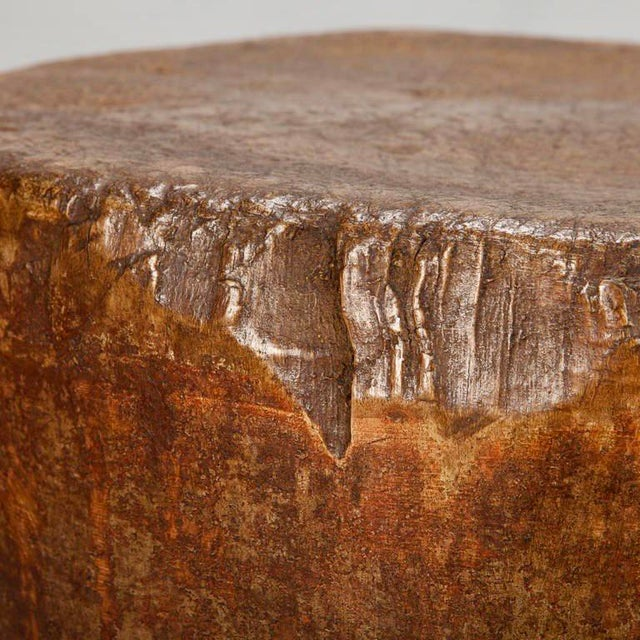 19th Century Primitive Round Butcher Block Table - Image 6 of 8