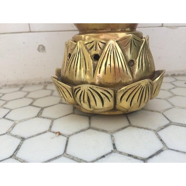 Hands on Lotus Brass Incense Burner - Image 3 of 9