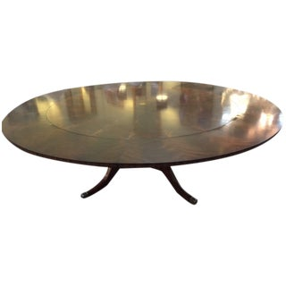 Maitland Smith Round Mahogany Table with Leaves