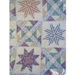Image of Vintage Feedsack Star Quilt