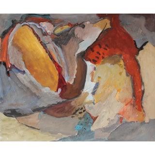 Jack Freeman Expressionist Painting, Circa 1960s