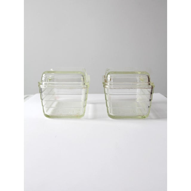 Vintage Glasbake Glass Refrigerator Dishes - a Pair - Image 6 of 6