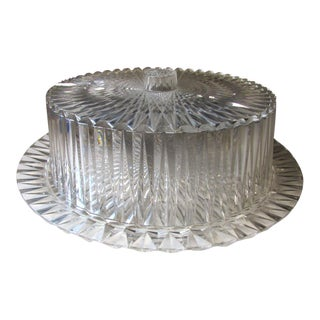 Mid Century Vintage Diamond Plastic Cake Plate With Cover