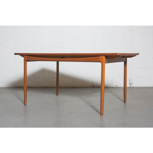 Mid-Century Carved Teak Dining Table - Image 2 of 9