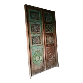 Antique Mediterranean Double Entry Door