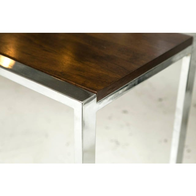 1960s Chrome and Mahogany Console Table - Image 5 of 5