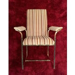 Image of Milo Baughman Thayer Coggin Brass Dining Chair - 4