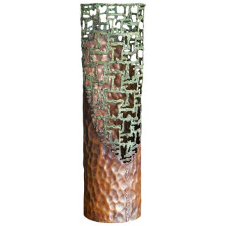 Large Sculptural Metal Vase by Marcello Fantoni