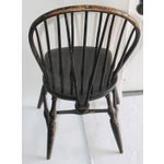 Image of Set of Four 18th Century Black Painted Brace Back Windsor Chairs