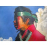 Image of Vintage Framed Pastel - Young Navajo Boy with Lamb