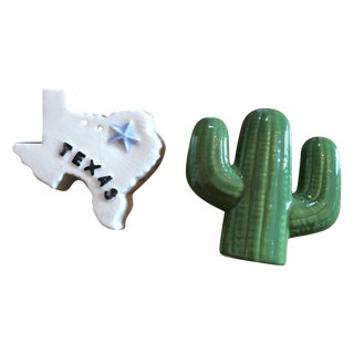 Vintage Texas Salt and Pepper Shakers