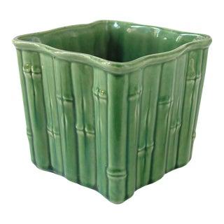 Green Ceramic Bamboo Planter