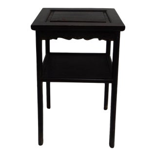 Antique Chinese Zitan Two-Tier Wood Side Table