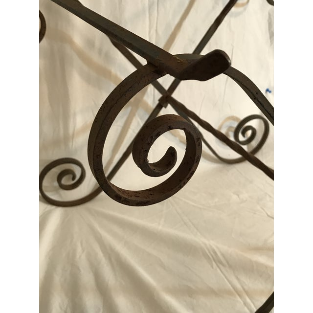 Antique Wrought Twisted Iron Table Base - Image 8 of 11