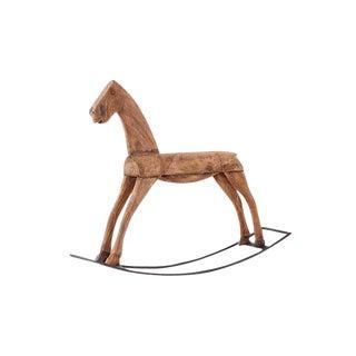 Brown Wood Rocking Horse