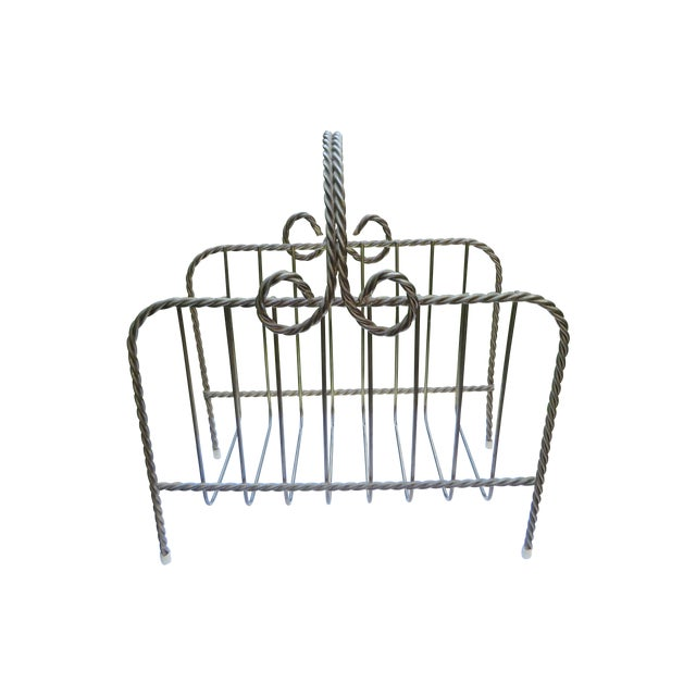 Vintage Twisted Metal Magazine Rack - Image 1 of 4