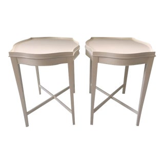 Vintage Hollywood Regency Side Tables - A Pair