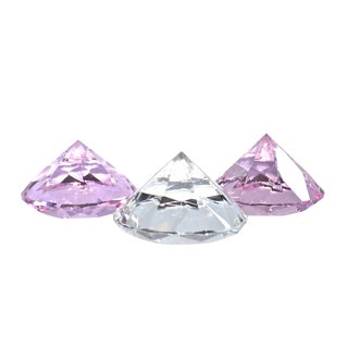 Faceted Lead Crystal Paperweights - Set of 3