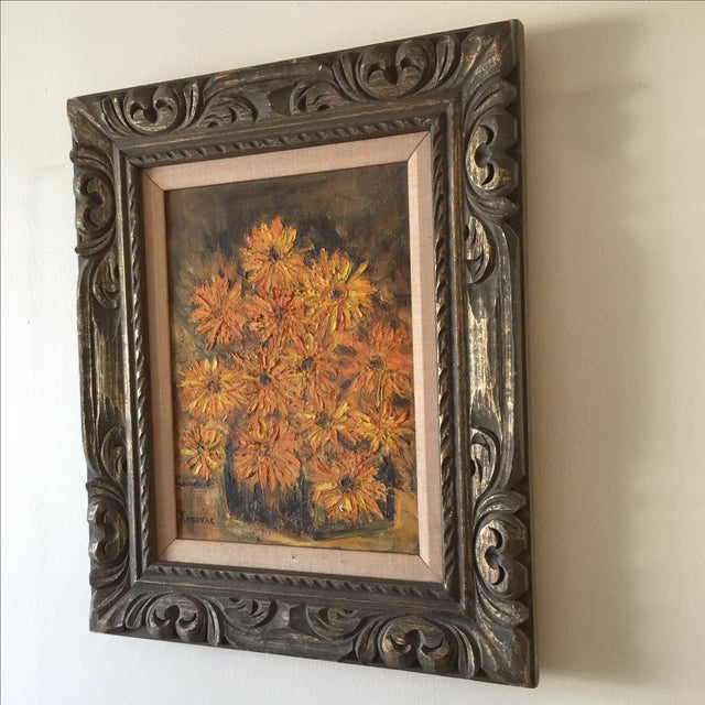 Vintage Framed Still Life Oil Painting - Image 6 of 9