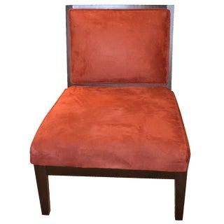 Rust Colored Velvet Chair