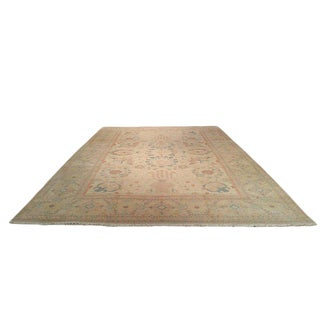 Traditional Handmade Knotted Rug - 11′ × 16′