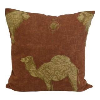 Lee Jofa Camel Print Pillow