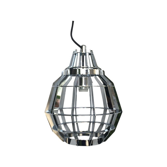 Cage Pendant Light - a Pair - Image 1 of 6