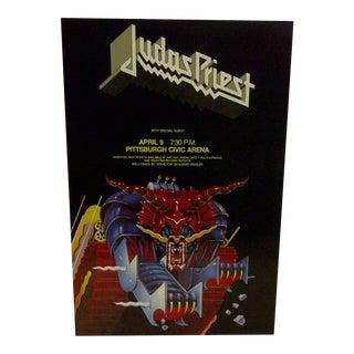 Judas Priest Concert Poster, Pittsburgh 1984