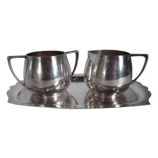 Empire Crafts Silver Plate Serving Set - Set of 3