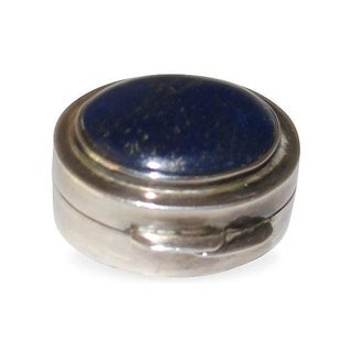 Sterling Silver And Lapis Box