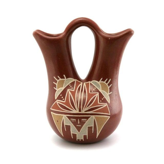 Flora Naranjo Santa Clara Redware Wedding Vase - Image 4 of 7