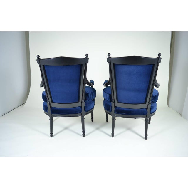 Pair of Directoire Style Fauteuil Chairs - Image 9 of 10