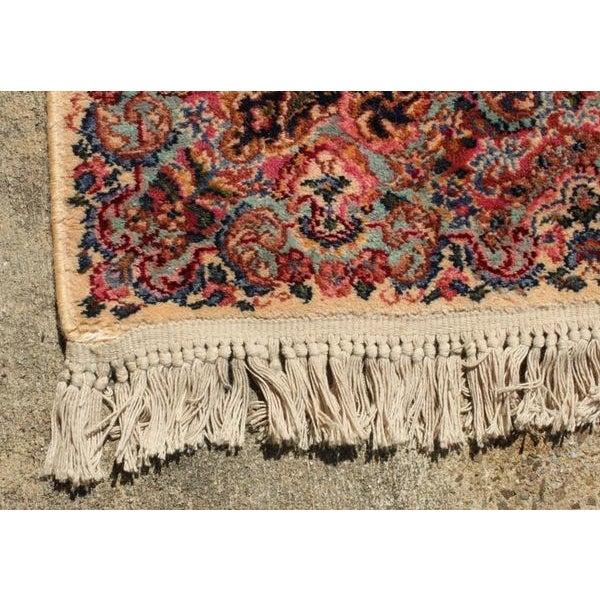 """Antique Karastan Kirman Wool Rug - 5′8″ x 9′7"""" - Image 5 of 5"""